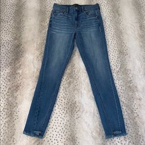 Express high rise skinny jeans long length